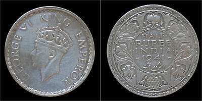 India King George VI half rupee 1941