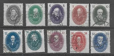 EAST GERMANY 1950 250th ANNIV OF ACADEMY OF SCIENCES  SG E20-29 SET 10 USED.
