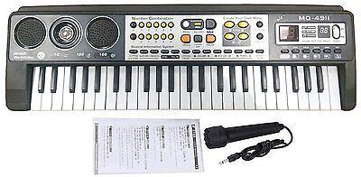 49 Key Digital Music Electronic Keyboard & Microphone Electric LED Piano Organ