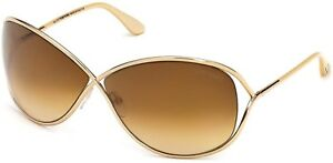 dca9c9afc69 Tom Ford TF 130 28F FT0130 Miranda Gold Brown Gradient Women Sunglasses  w Case