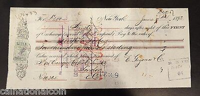 1892 Exchange Rate Receipt