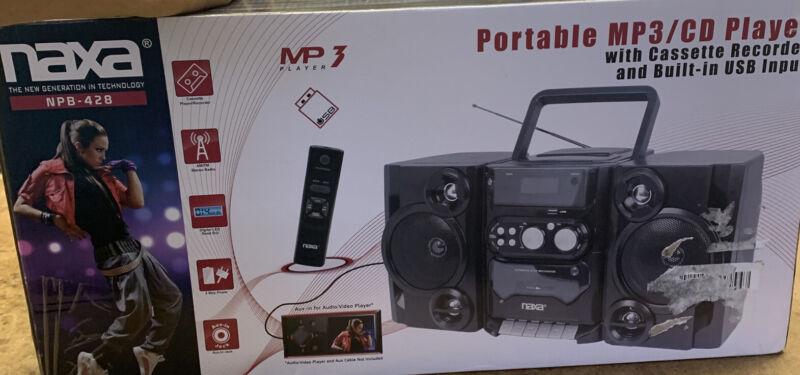 Naxa NPB-428: Portable MP3/CD Player AM/FM Stereo Radio & Cassette Player/Record