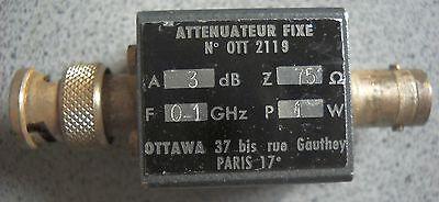 OTTAWA Attenuator Abschwächer 75 Ohm, 3dB