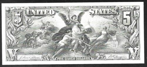 Proof Print by the BEP - $5 Silver Cert. (Educ. Note)
