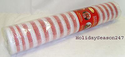 Holiday Living 30' Decorative Mesh Christmas Holiday Wedding Ribbon Garland Red ()