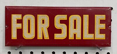 Vintage For Sale Sign Red, Yellow, And White Reflective Letters 9 x 3.250
