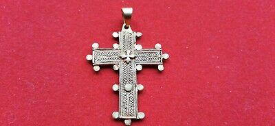 Cross Religious Antique Metal Golden Pendant Jesus Christ REF55279