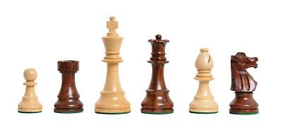 Uscf Sales The Club Chess Set   Pieces Only   3 75  King   Golden Rosewood