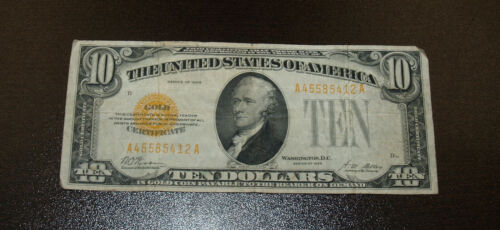 1928 $10 Gold Certificate - Nice Very Fine Condition Note!!