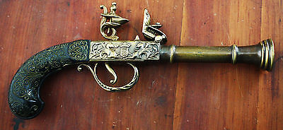 Small flintlock non-firing prop pistol
