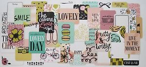Sweet Project Life x50 Cards Taster Pack 4x6 & 3x4 Journaling Scrapbooking
