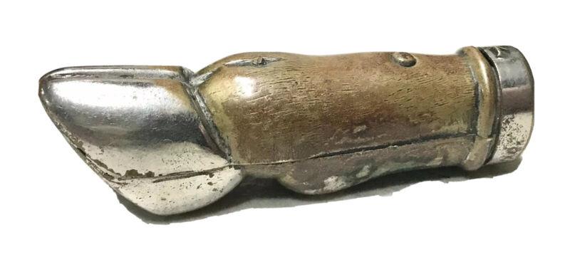 Rare Antique Vintage 1800' Metal Horse Shoe Vesta Match Safe Case Holder Old