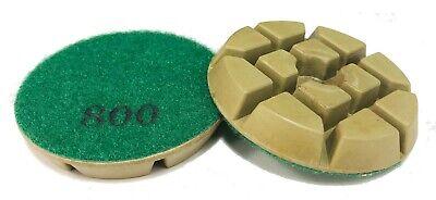 3 - 800 Grit - Resin Bonded Floor Polishing Pucks For Concrete Natural Stones