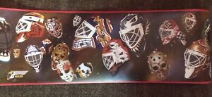 Greg Harrison The Mask Wallpaper Trim Roll - Goalie Masks