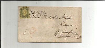 Pr. - Nr.-o / 403 zentriert + klar auf 4a auf Kabinett-Brief n. Gr. Krauschen