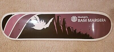 2004 Bam Margera Fiberlight Element Skateboard Deck NOS