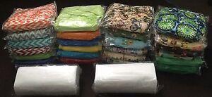 Lot de 24 couches lavables unisexes NEUVES (nouveau prix)