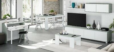 Pack mueble salon modular mesa centro mesa comedor y escritorio extensible, usado segunda mano  Alquerías del Niño Perdido