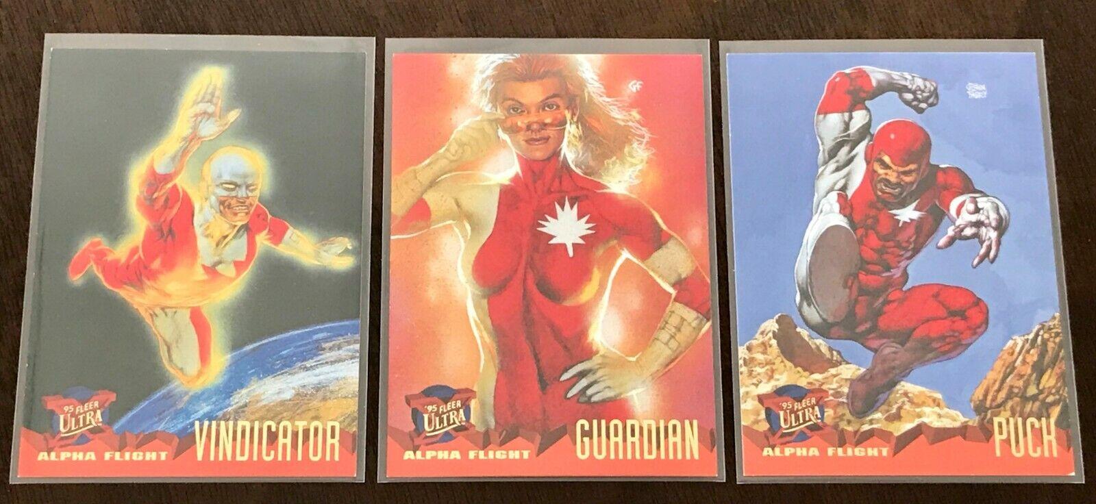 1995 Fleer Ultra X-Men - Alpha Flight Set - Canada Team - Marvel - Glenn Fabry - $3.99