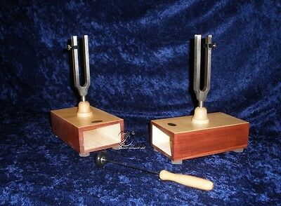 Stimmgabel Paar a1 440 Hz auf Resonanzkasten - Germany - tuning fork - diapason