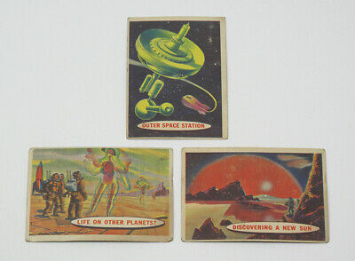 Lot of 3 1958 Topps Target Moon Vintage Trading Cards - VG to VG-EX