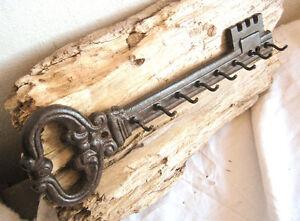 SCHLÜSSELBOARD Gusseisen, Schlüsselleiste Schlüsselbrett Hakenleiste antik style