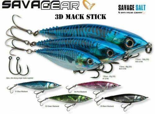 SAVAGE GEAR 3D MACK STICK READY TO FISH PREDATOR LURES - BARGAIN