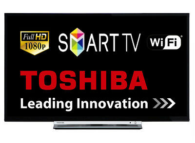 """Toshiba 32L3753 32"""" Smart LED TV Full HD 1080p With Freeview HD Tuner Wi-Fi HDMI"""