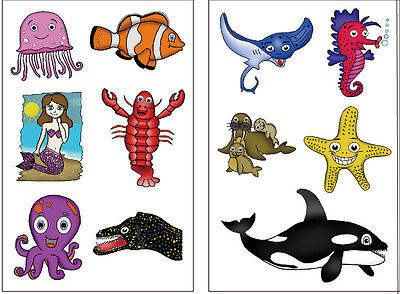 Under The Sea Tattoos (Premium Ocean Animal (Under the Sea) Tattoos: Killer Whale, Mermaid,)