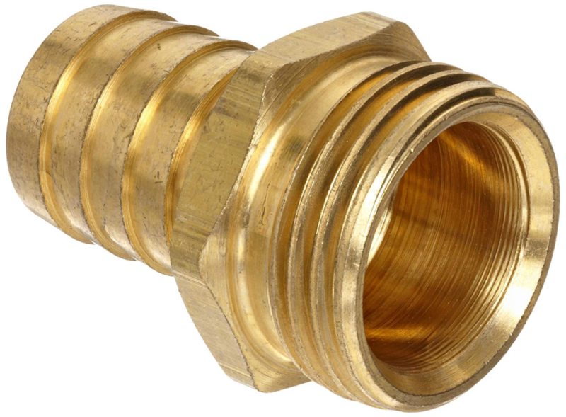 """Connector FM84 1//4"""" Barb X 1//2"""" NPT Male End Brass Hose Barb Fitting"""