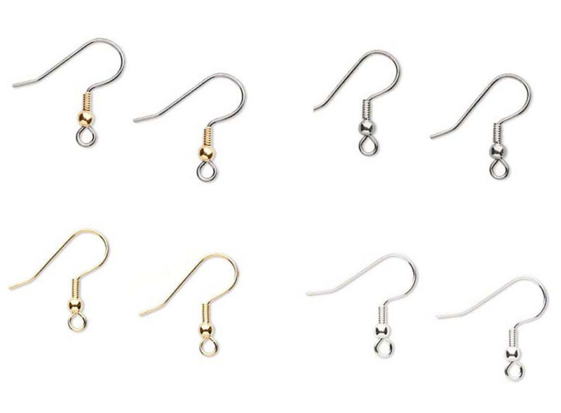 100 Surgical Stainless Steel Ear Wires  Earwires With Coil And Ball Earrings