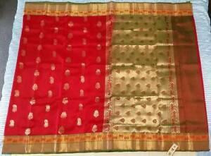 PURE SILK Kanchipuram Saree #KAN 030 / Sari / Salwar / Bollywood Dress