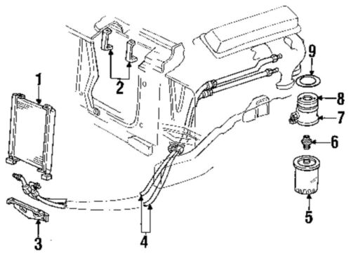 GM OEM 10244495 Oil Filter Gasket/Engine Oil Filter
