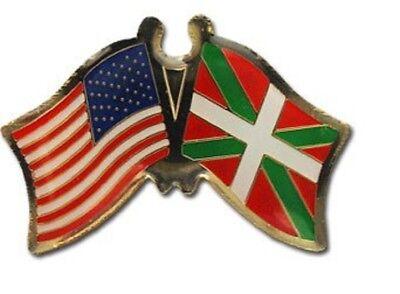 Wholesale Pack of 50 USA American Basque Friendship Flag Bike Hat Cap lapel Pin