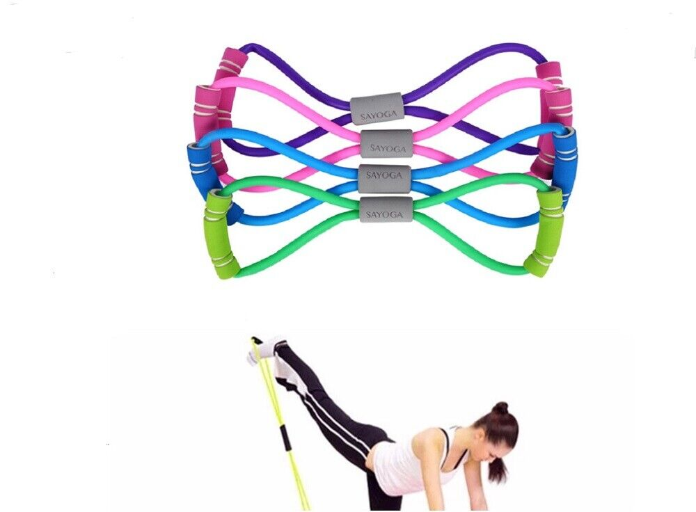 Stretch Band Rope Latex Rubber Arm Resistance Fitness Exercise Pilates Yoga Gym Fitness Equipment & Gear