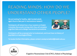 Neuroscience Experiment - Seeking Volunteers Burwood Whitehorse Area Preview
