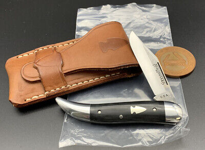 Northwoods by Great Eastern Cutlery Knife Coolidge Jack Black Linen Micarta Mint