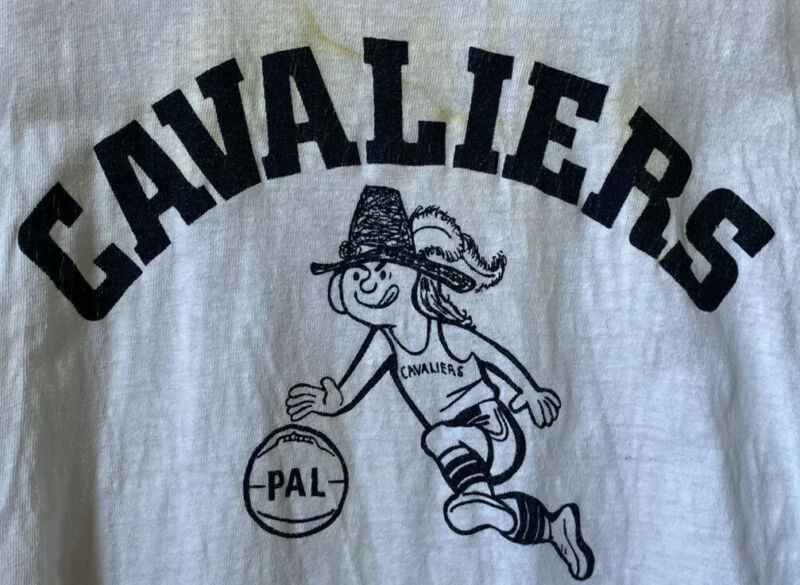 Vintage 1950s Cavaliers Pelham Cotton T Shirt Size 16 Child Youth Girl Boy