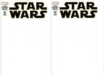 Star Wars  1 Blank Sketch Cover Variant Marvel Comics 2015 movie 1st printing x2
