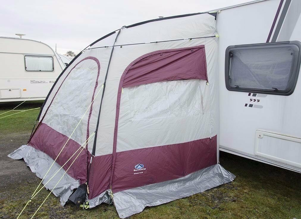 Caravan Porch Awning Sunncamp Scenic Plus Maroon