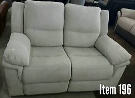 Ex display 2 seater reclining sofa