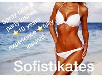 Mobile & home salon based spray tanning