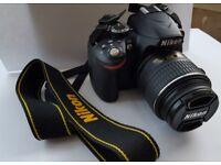 Nikon D3200 SLR camera 24.2 megalixel.