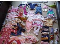 Huge bundle of baby girls clothes aged 3-6 months - 86 items in total