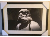 IDEAL CHRISTMAS PRESENT *V.RARE* Framed, signed & numbered Star Wars Stormtrooper giclee print