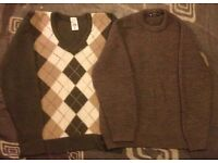 2x Marks + Spencers woollen jumpers , both size 42 , used but in excellent condition