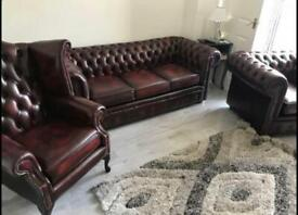 3+1+1 3 Piece Extreme Rare Chesterfield Thomas Lloyd Suite Settee Oxblood Luxury Set As New Bargain