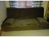 Brown IKEA Beddinge 3 seater Double Sofabed sofa futon day bed couch settee Delivery possible