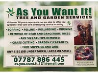 AS YOU WANT IT tree and garden service