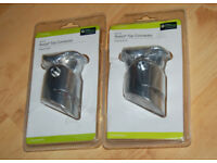 2 x AXXYS Chrome Adjustable Handrail connectors B&Q stair parts Brand New